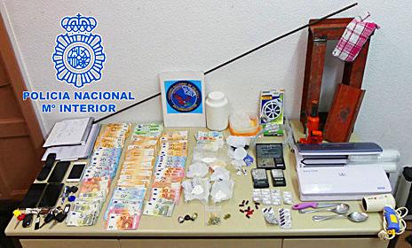 La operación policial Skate2 ha desarticulado una banda organizada de tráfico de drogas