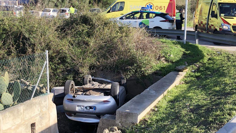 Imagen del accidente cerca de San Isidro