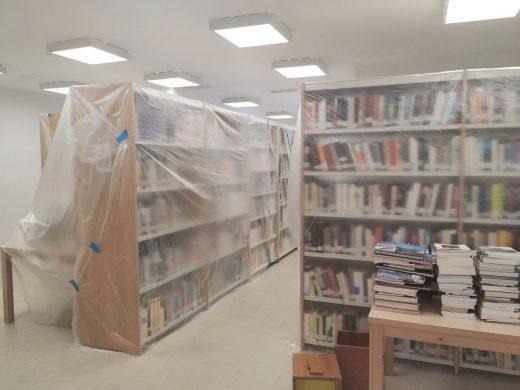 Se aplicará una tratamiento antihumedad en la biblioteca de Es Castell
