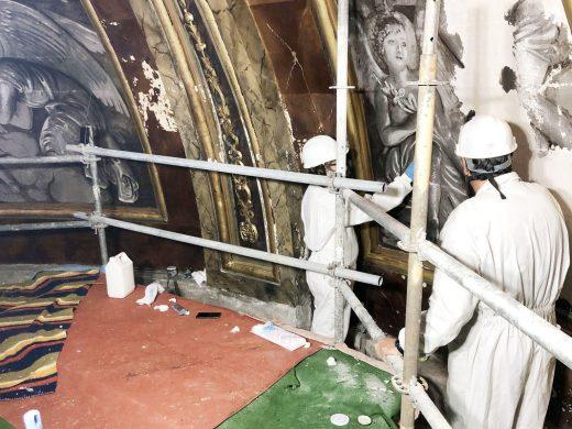 (Fotos) Restauran la cúpula de la iglesia Santa María en Maó
