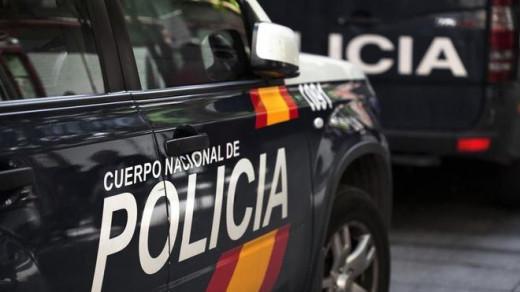 Vehículos de la Policía Nacional.