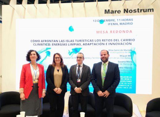 La presidenta, Susana Mora, en la COP25 este viernes