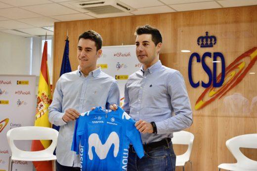 Albert Torres y Sebastián Mora, durante su presentación (Fotos: Movistar Team)
