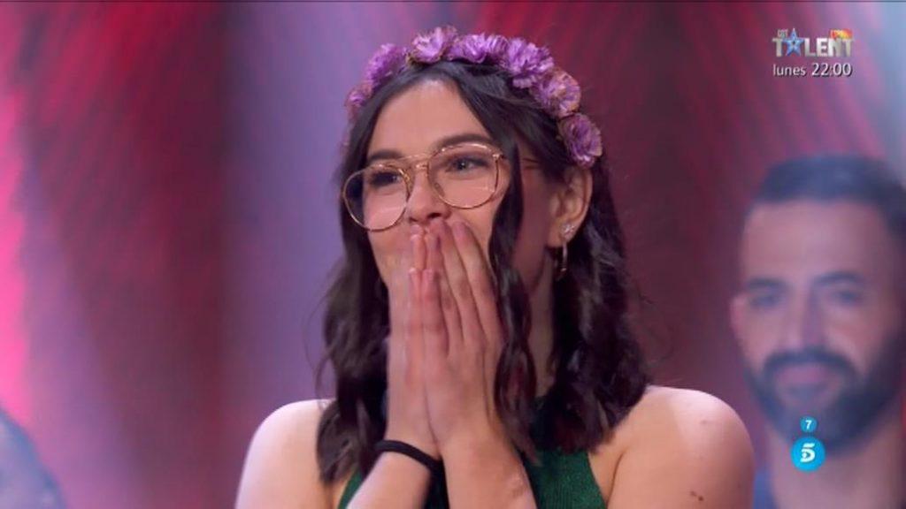 Chiara, emocionada tras su pase a la final (Fotos: Telecinco)