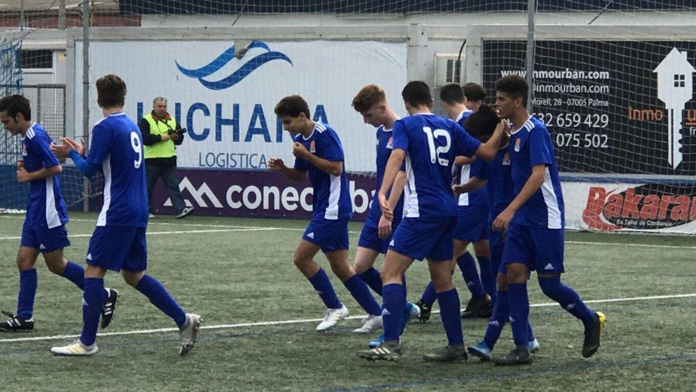 Celebración del gol de Balears sub 16 (Foto: FFIB)