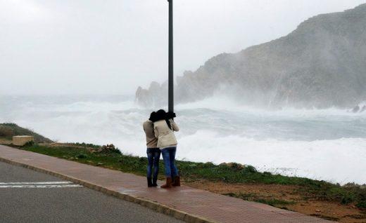 Mucho viento.