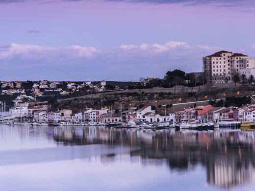 (Fotos) Espectacular atardecer en el puerto de Maó