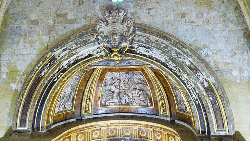 restauraci—n cupula iglesia santa maria