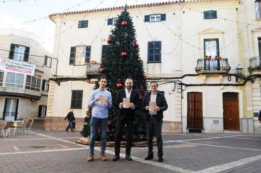 Rafel Quintana, José Luis Benejam y Tiago Reurer, presentando el programa (Foto: Tolo Mercadal)