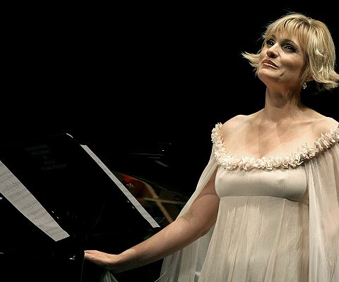 Arteta, durante un recital.