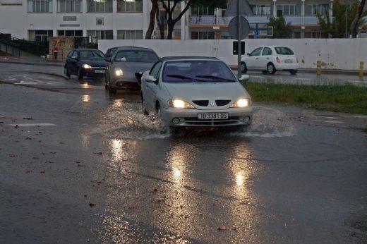 Probabilidad de lluvias fuertes.
