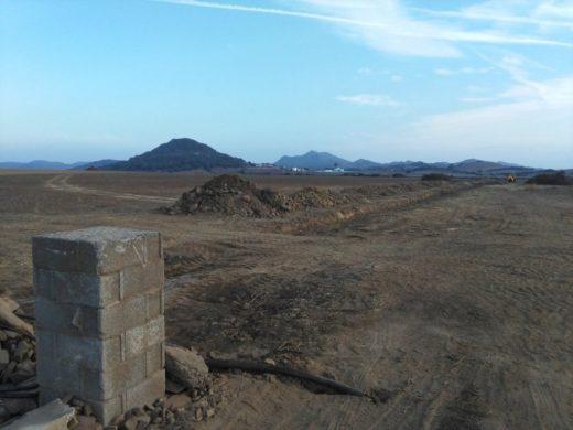 Fotografía del lugar de las obras (Fotos: GOB Menorca)