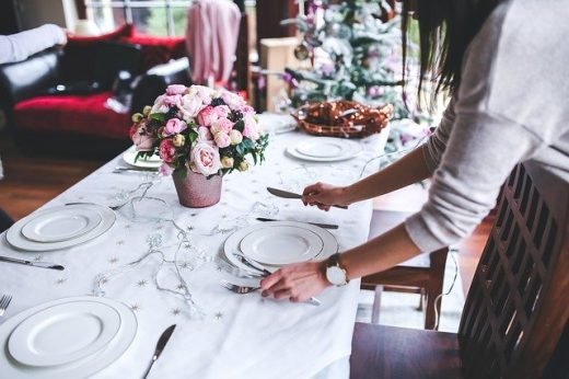 Preparando la mesa