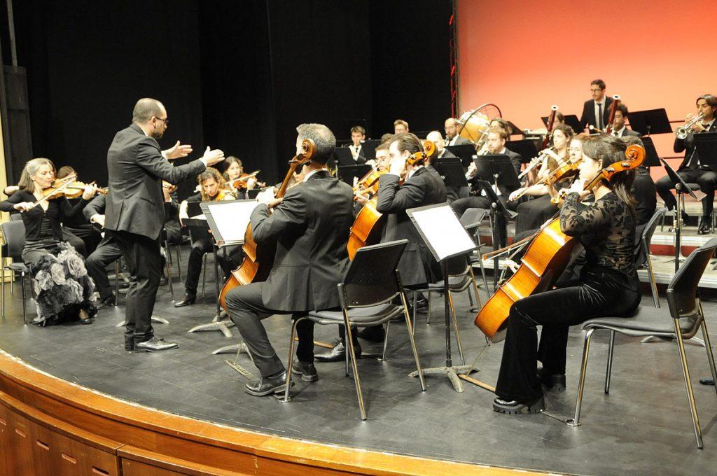Imagen de archivo de una actuación de la OCIM (Foto: Tolo Mercadal)