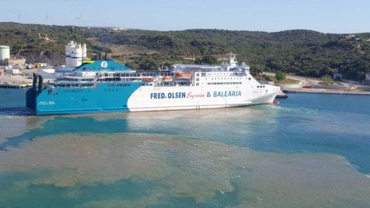 Baleària cancela sus trayectos con Ciutadella