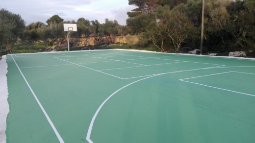 Imagen de la pista de baloncesto (Foto: Consell Insular)