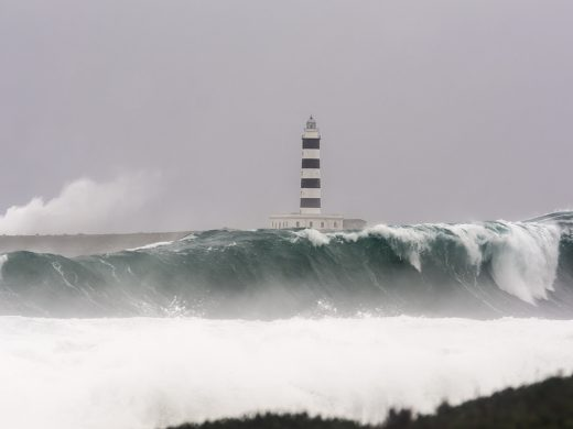 (Fotos) La fuerza de Gloria en el mar