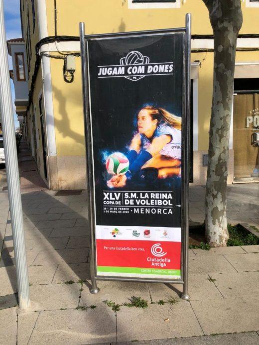 Cartel promocionando el evento (Foto: Vòlei Ciutadella)