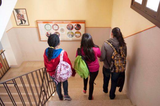 Estudiantes de Menorca en un centro escolar(Foto: David_Arquimbau)