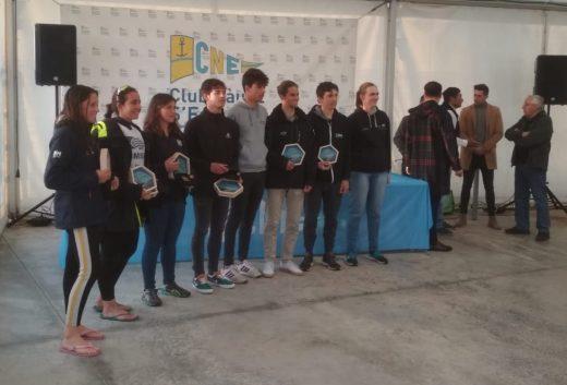 Regatistas de Ciutadella en el campeonato celebrado en S'Estanyol