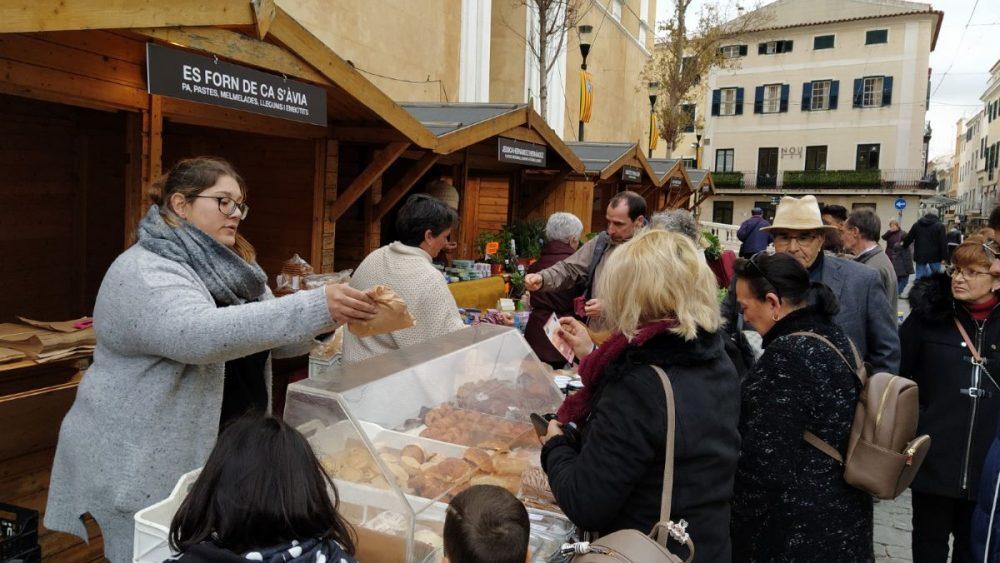 Mercat de Sant Antoni en Maó esta mañana (Foto: J.R.)