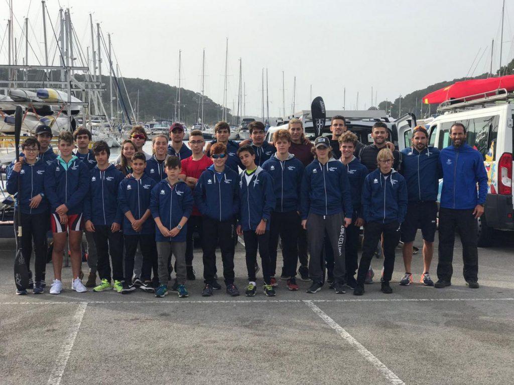 Fin de semana de aprendizaje para los palistas de Menorca.