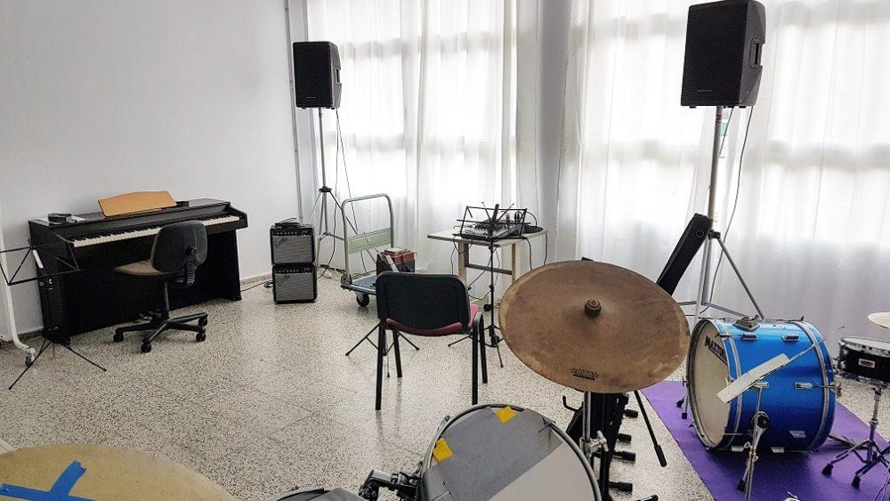 Imagen de una de las aulas de música (Fotos: Ajuntament d'Es Castell)