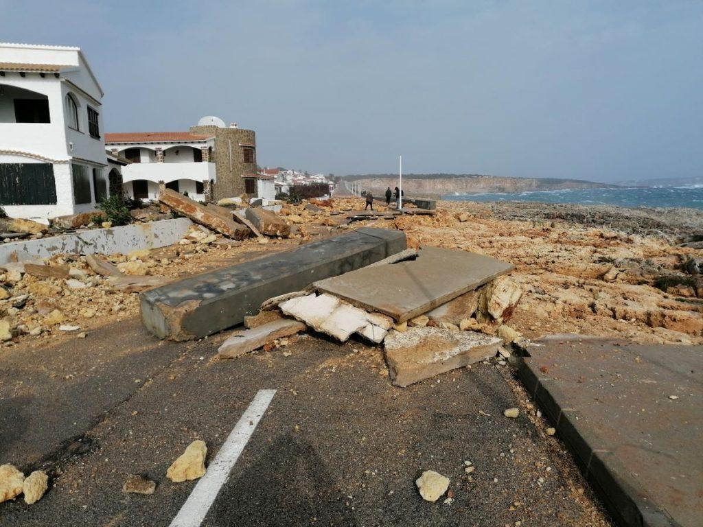 S'Algar, después del temporal (Fotos y vídeo: Ajuntament de Sant Lluís)
