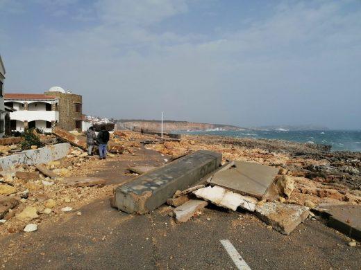 """Sant Lluís pide ayuda al Estado para compensar los daños causados por """"Gloria"""""""