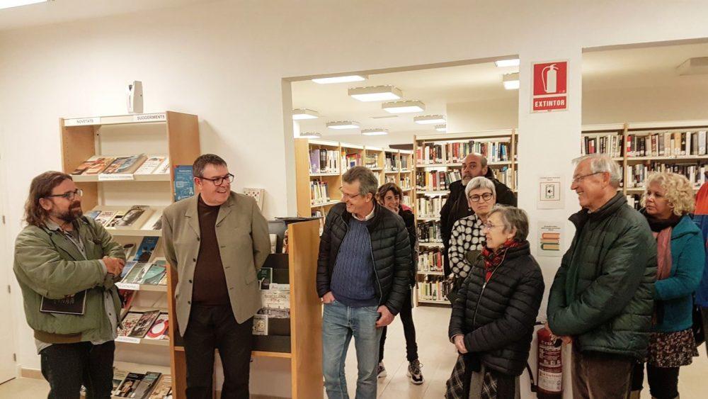 Imagen de la inauguración en la Biblioteca de Es Castell