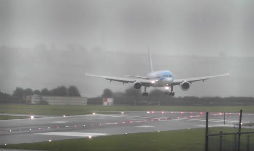 Imagen del vídeo que muestra el espectacular aterrizaje