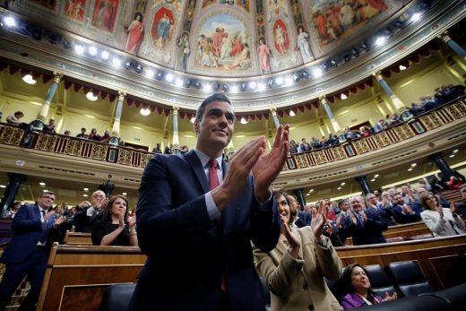 Pedro Sánchez, tras ser elegido.