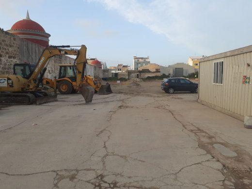 Plaza donde se están realizando las obras (Foto: Ajuntament Ciutadella)
