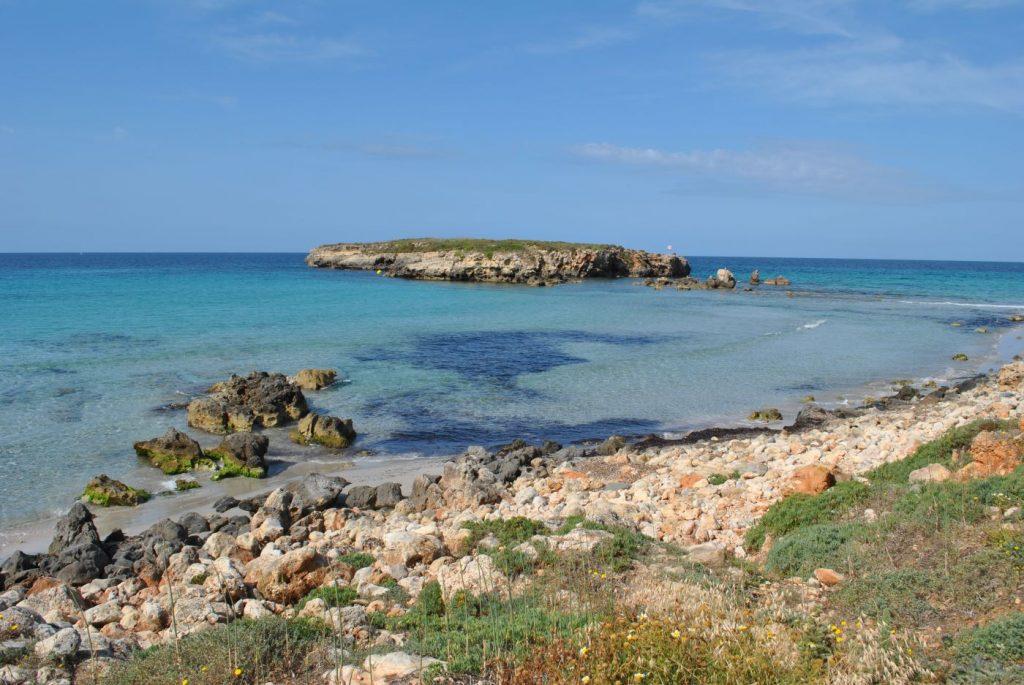 Imagen de una parte de la playa de Sant Tomàs (Foto: EA)