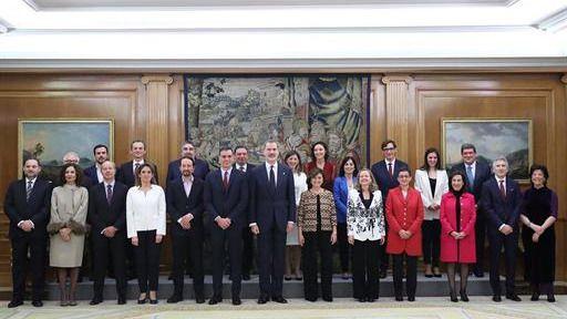 Imagen oficial del nuevo Gobierno español