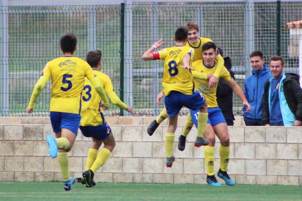 Jugadores del Villacarlos celebrando un gol (Foto: Itziar Gómez)