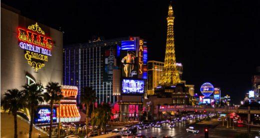 Luces de neón en Las Vegas.