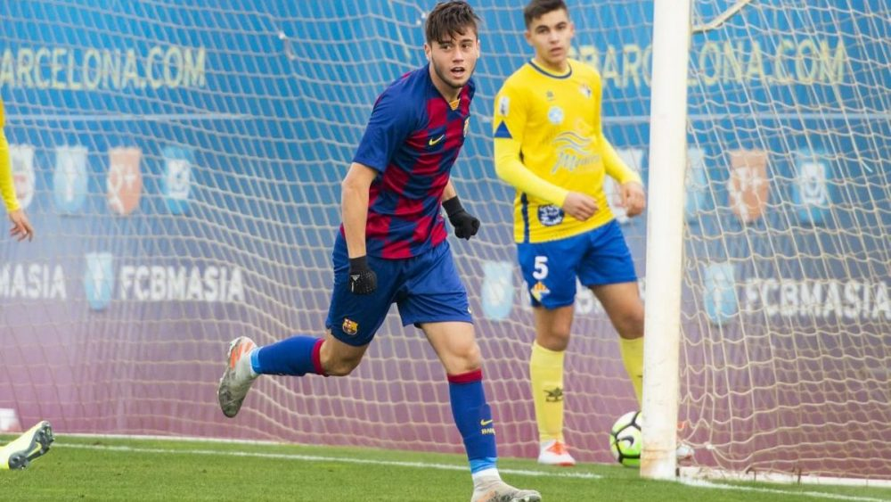 Celebración de uno de los goles (Fotos: FC Barcelona)