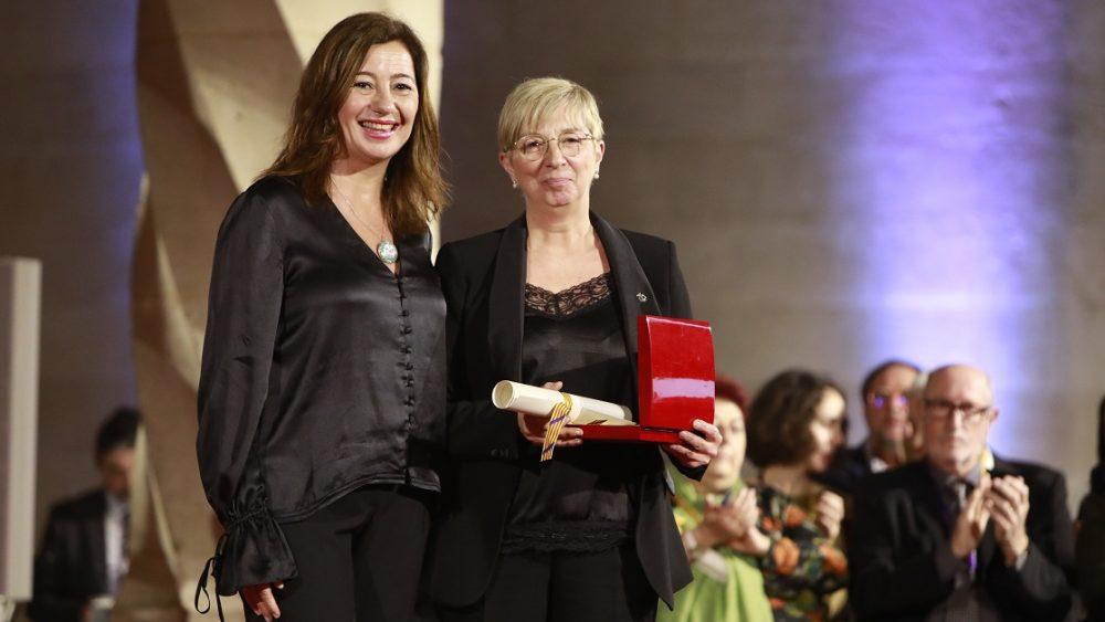 Catalina Pons, recogiendo el premio del Premi Born.