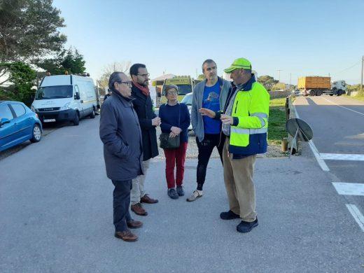 (Fotos) Mayor seguridad en la carretera de entrada a Sant Climent por Binidalí