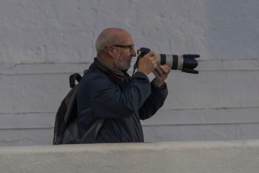 Imagen de Javier Coll trabajando (Foto: Karlos Hurtado)