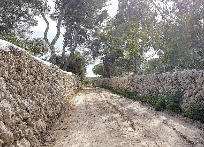 Nueva imagen del Camí Vell de Alcalfar Vell en Es Castell