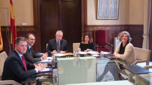Imagen de la reunión del Govern balear con ISBA