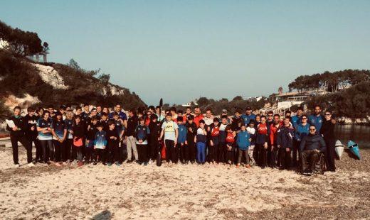 Un numeroso grupo de jóvenes deportistas participó en la prueba