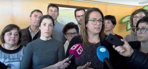 Susana Mora con los alcaldes de la isla este lunes