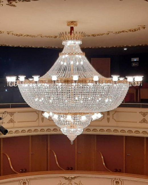 La nueva lámpara del Teatre des Born (Foto: Joana Gomila)