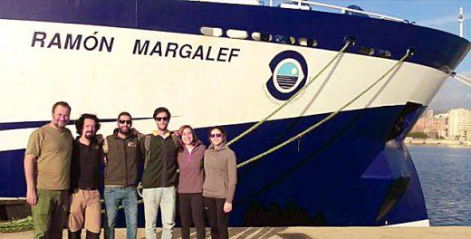 Equipo científico que ha realizado el trabajo (Foto: Centro Oceanográfico de Baleares)