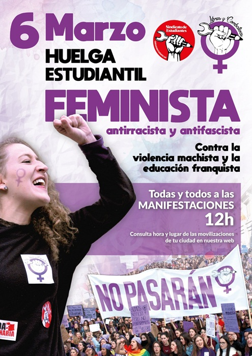 Cartel que anuncia la huelga