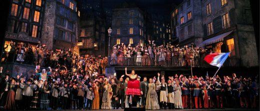 Imagen de la representación de La Bohème.