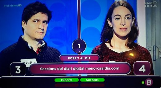 Momento del concurso en el que aparece Menorcaaldia.com.